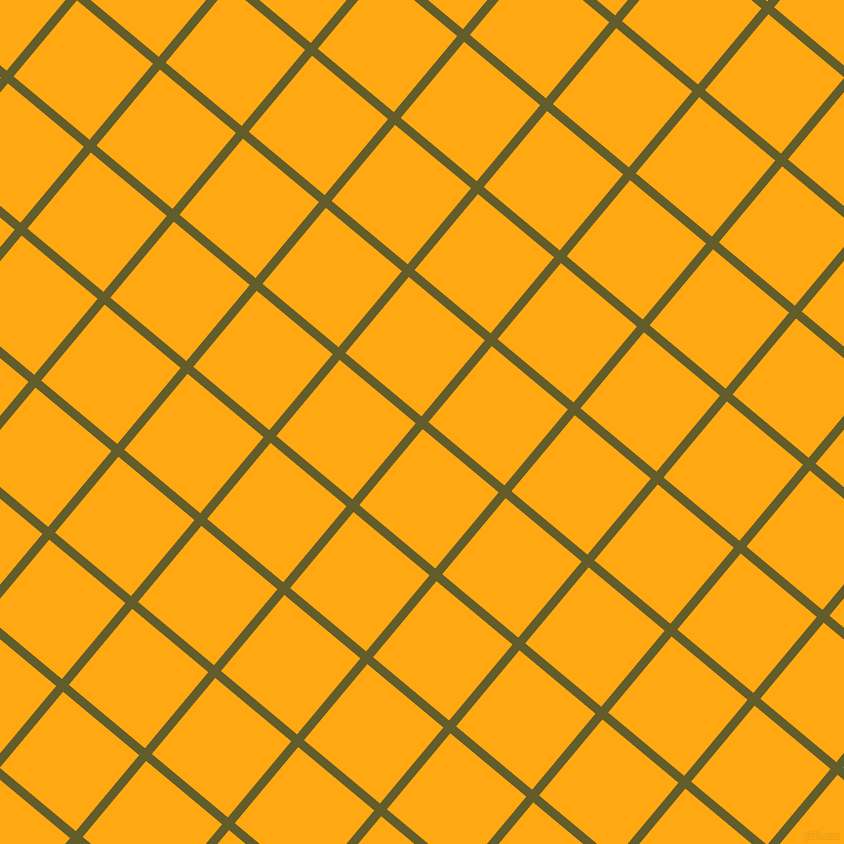 50/140 degree angle diagonal checkered chequered lines, 9 pixel line width, 99 pixel square size, Costa Del Sol and Dark Tangerine plaid checkered seamless tileable