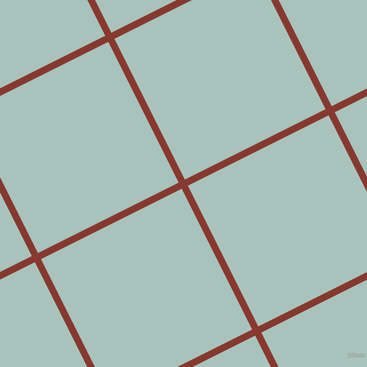 27/117 degree angle diagonal checkered chequered lines, 14 pixel lines width, 322 pixel square size, Crab Apple and Opal plaid checkered seamless tileable