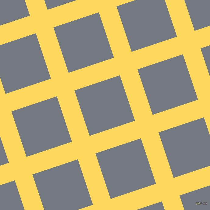 18/108 degree angle diagonal checkered chequered lines, 61 pixel lines width, 157 pixel square size, Dandelion and Storm Grey plaid checkered seamless tileable