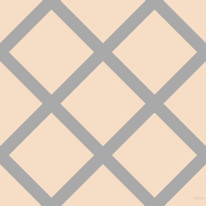 45/135 degree angle diagonal checkered chequered lines, 42 pixel line width, 201 pixel square size, Dark Gray and Sazerac plaid checkered seamless tileable