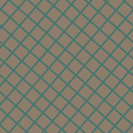 49/139 degree angle diagonal checkered chequered lines, 6 pixel lines width, 34 pixel square size, Dark Green Copper and Squirrel plaid checkered seamless tileable