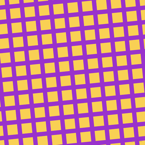 6/96 degree angle diagonal checkered chequered lines, 15 pixel line width, 35 pixel square size, Dark Orchid and Kournikova plaid checkered seamless tileable