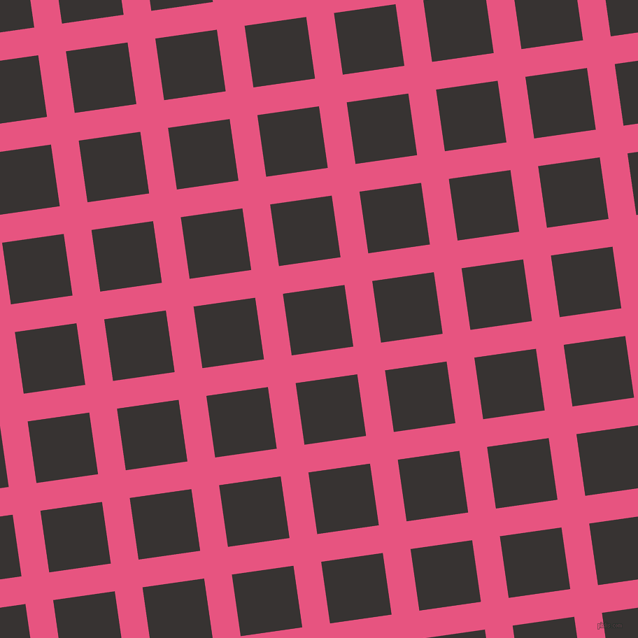 8/98 degree angle diagonal checkered chequered lines, 40 pixel lines width, 89 pixel square size, Dark Pink and Gondola plaid checkered seamless tileable