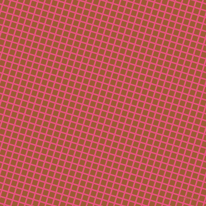 73/163 degree angle diagonal checkered chequered lines, 3 pixel line width, 10 pixel square size, Dark Pink and Indochine plaid checkered seamless tileable
