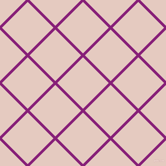 45/135 degree angle diagonal checkered chequered lines, 9 pixel lines width, 122 pixel square size, Dark Purple and Dust Storm plaid checkered seamless tileable