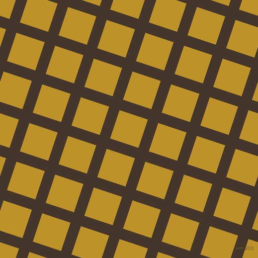 72/162 degree angle diagonal checkered chequered lines, 22 pixel line width, 60 pixel square size, Dark Rum and Nugget plaid checkered seamless tileable