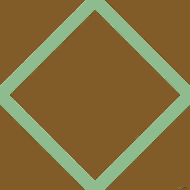45/135 degree angle diagonal checkered chequered lines, 55 pixel lines width, 493 pixel square size, Dark Sea Green and Hot Curry plaid checkered seamless tileable