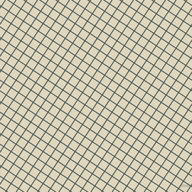 56/146 degree angle diagonal checkered chequered lines, 3 pixel line width, 27 pixel square size, Dark Slate and Wheatfield plaid checkered seamless tileable