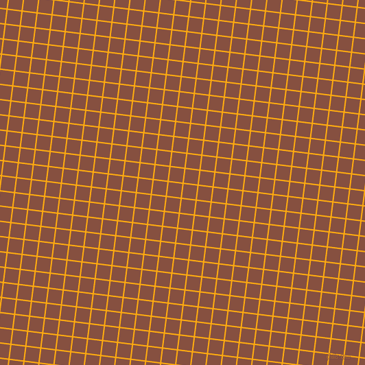 83/173 degree angle diagonal checkered chequered lines, 2 pixel lines width, 20 pixel square size, Dark Tangerine and Ironstone plaid checkered seamless tileable