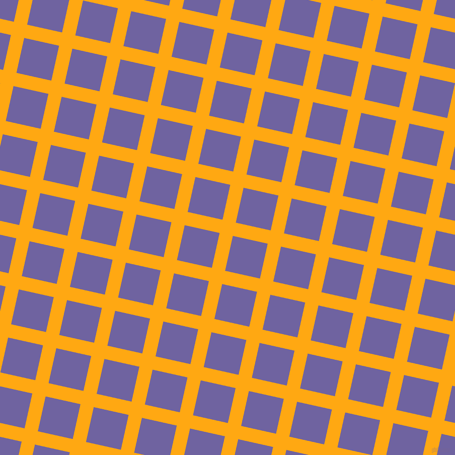 77/167 degree angle diagonal checkered chequered lines, 27 pixel line width, 71 pixel square size, Dark Tangerine and Scampi plaid checkered seamless tileable