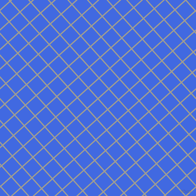 42/132 degree angle diagonal checkered chequered lines, 4 pixel lines width, 43 pixel square size, Dawn and Royal Blue plaid checkered seamless tileable