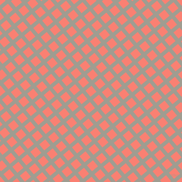 40/130 degree angle diagonal checkered chequered lines, 13 pixel line width, 27 pixel square size, Dawn and Salmon plaid checkered seamless tileable