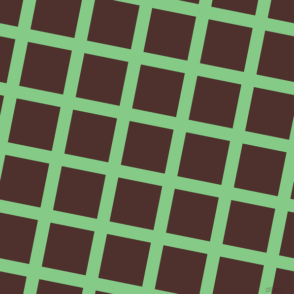 79/169 degree angle diagonal checkered chequered lines, 26 pixel lines width, 91 pixel square size, De York and Espresso plaid checkered seamless tileable