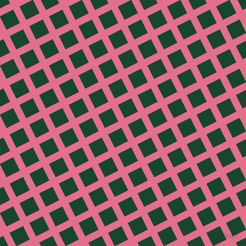 27/117 degree angle diagonal checkered chequered lines, 14 pixel line width, 30 pixel square size, Deep Blush and Zuccini plaid checkered seamless tileable