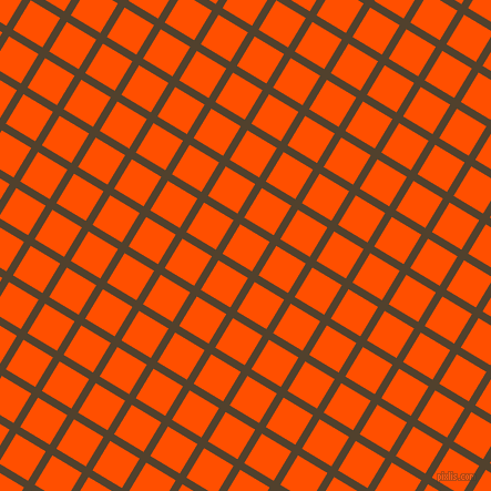 59/149 degree angle diagonal checkered chequered lines, 7 pixel lines width, 31 pixel square size, Deep Bronze and International Orange plaid checkered seamless tileable