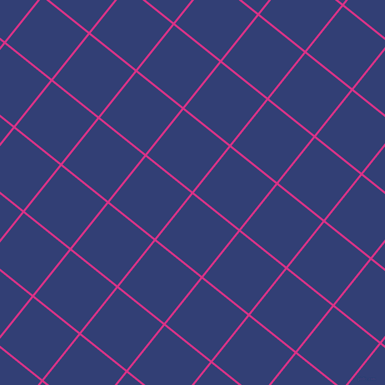 51/141 degree angle diagonal checkered chequered lines, 4 pixel line width, 115 pixel square size, Deep Cerise and Resolution Blue plaid checkered seamless tileable