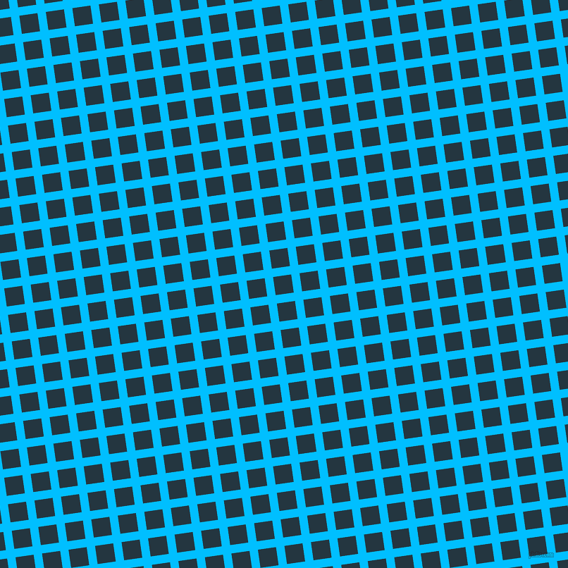 8/98 degree angle diagonal checkered chequered lines, 12 pixel line width, 26 pixel square size, Deep Sky Blue and Elephant plaid checkered seamless tileable