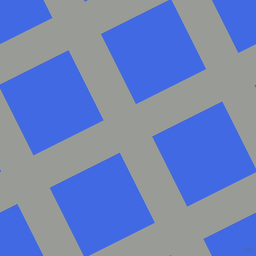 27/117 degree angle diagonal checkered chequered lines, 118 pixel lines width, 256 pixel square size, Delta and Royal Blue plaid checkered seamless tileable