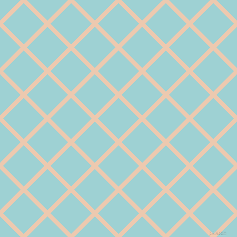 45/135 degree angle diagonal checkered chequered lines, 9 pixel lines width, 60 pixel square size, Desert Sand and Morning Glory plaid checkered seamless tileable