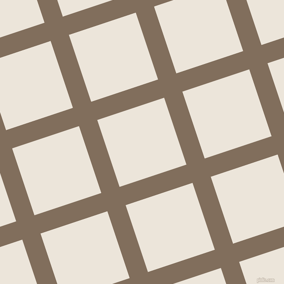 18/108 degree angle diagonal checkered chequered lines, 39 pixel lines width, 143 pixel square size, Donkey Brown and Soapstone plaid checkered seamless tileable