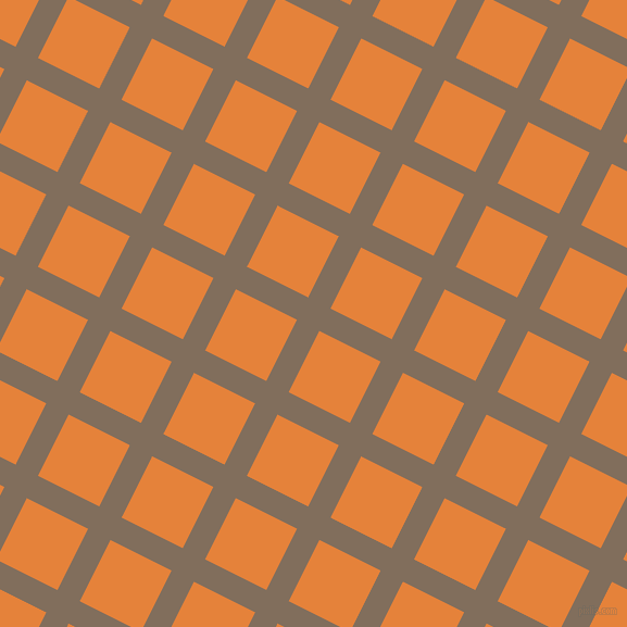 63/153 degree angle diagonal checkered chequered lines, 23 pixel line width, 63 pixel square size, Donkey Brown and West Side plaid checkered seamless tileable