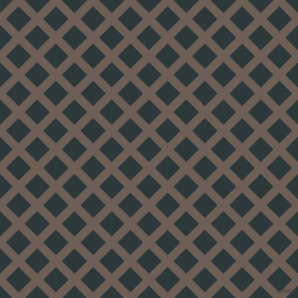 45/135 degree angle diagonal checkered chequered lines, 17 pixel line width, 37 pixel square size, Dorado and Outer Space plaid checkered seamless tileable