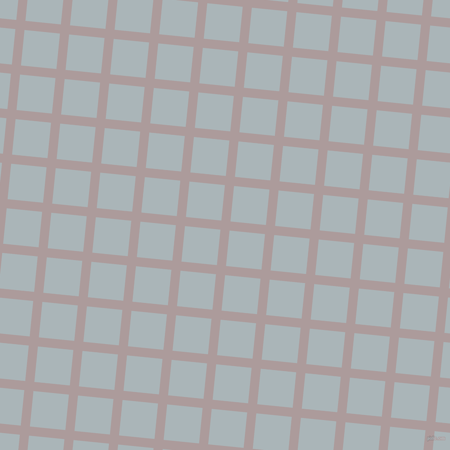 84/174 degree angle diagonal checkered chequered lines, 18 pixel line width, 70 pixel square size, Dusty Grey and Casper plaid checkered seamless tileable