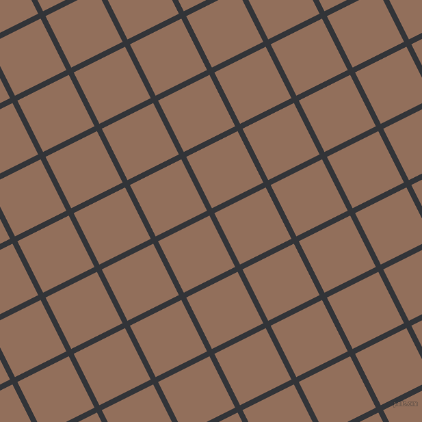 27/117 degree angle diagonal checkered chequered lines, 8 pixel lines width, 84 pixel square size, Ebony Clay and Beaver plaid checkered seamless tileable