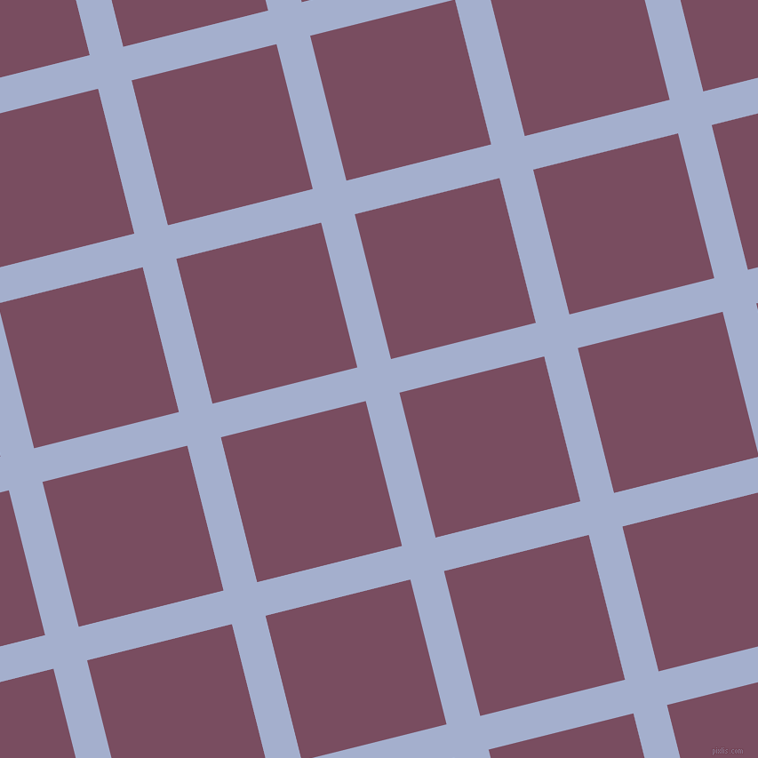 14/104 degree angle diagonal checkered chequered lines, 39 pixel line width, 168 pixel square size, Echo Blue and Cosmic plaid checkered seamless tileable