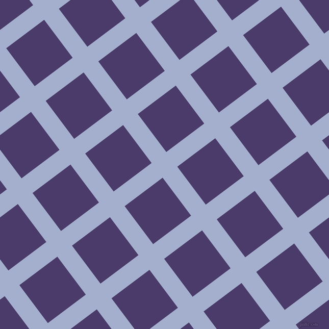 37/127 degree angle diagonal checkered chequered lines, 36 pixel line width, 93 pixel square size, Echo Blue and Meteorite plaid checkered seamless tileable