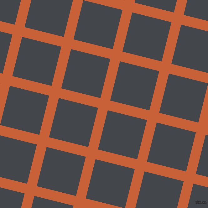 76/166 degree angle diagonal checkered chequered lines, 32 pixel line width, 129 pixel square size, Ecstasy and Steel Grey plaid checkered seamless tileable