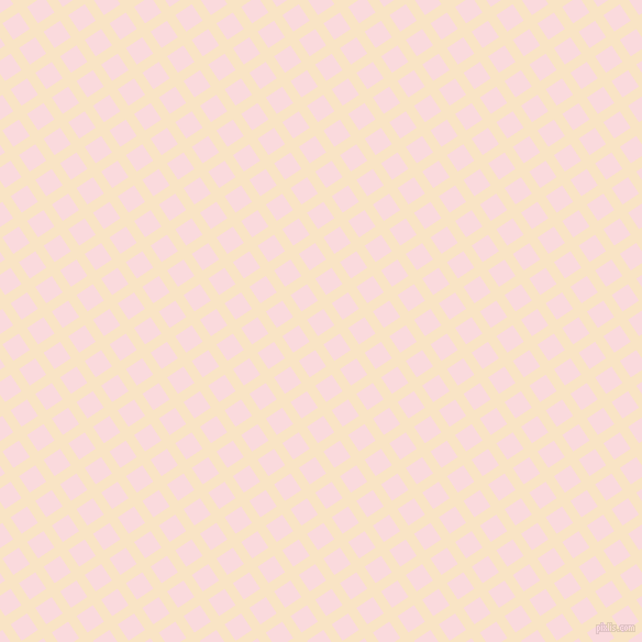 34/124 degree angle diagonal checkered chequered lines, 9 pixel line width, 18 pixel square size, Egg Sour and Pale Pink plaid checkered seamless tileable