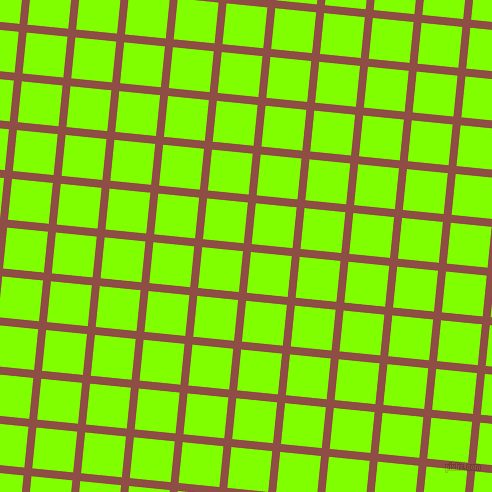 84/174 degree angle diagonal checkered chequered lines, 8 pixel line width, 41 pixel square size, El Salva and Chartreuse plaid checkered seamless tileable