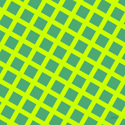 60/150 degree angle diagonal checkered chequered lines, 16 pixel lines width, 37 pixel square size, Electric Lime and Ocean Green plaid checkered seamless tileable