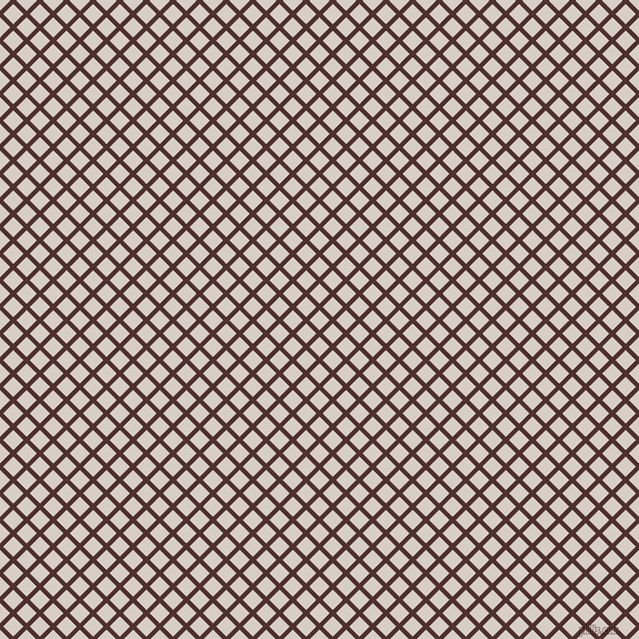 45/135 degree angle diagonal checkered chequered lines, 4 pixel line width, 13 pixel square size, Espresso and Swirl plaid checkered seamless tileable
