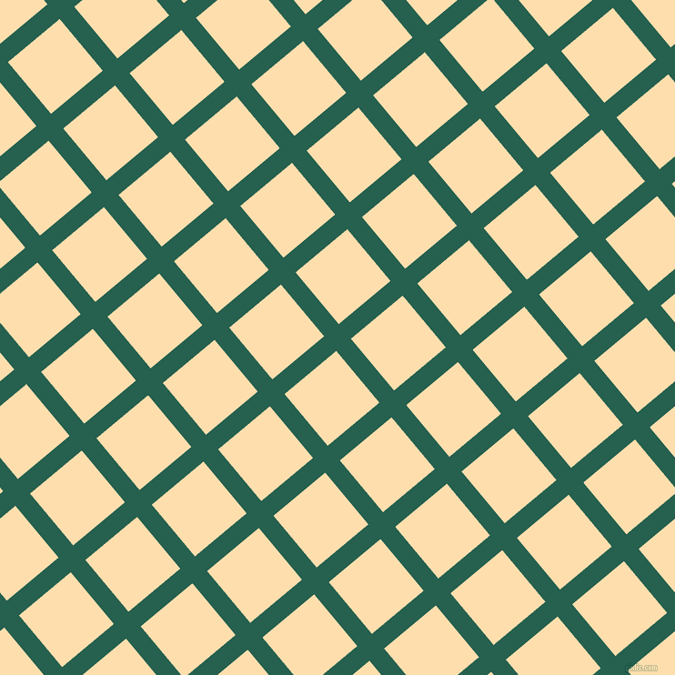40/130 degree angle diagonal checkered chequered lines, 21 pixel line width, 74 pixel square size, Evening Sea and Navajo White plaid checkered seamless tileable