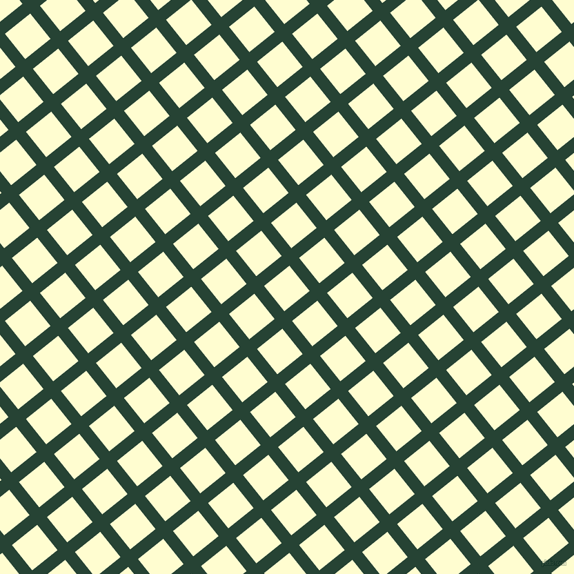 39/129 degree angle diagonal checkered chequered lines, 18 pixel lines width, 47 pixel square size, Everglade and Cream plaid checkered seamless tileable