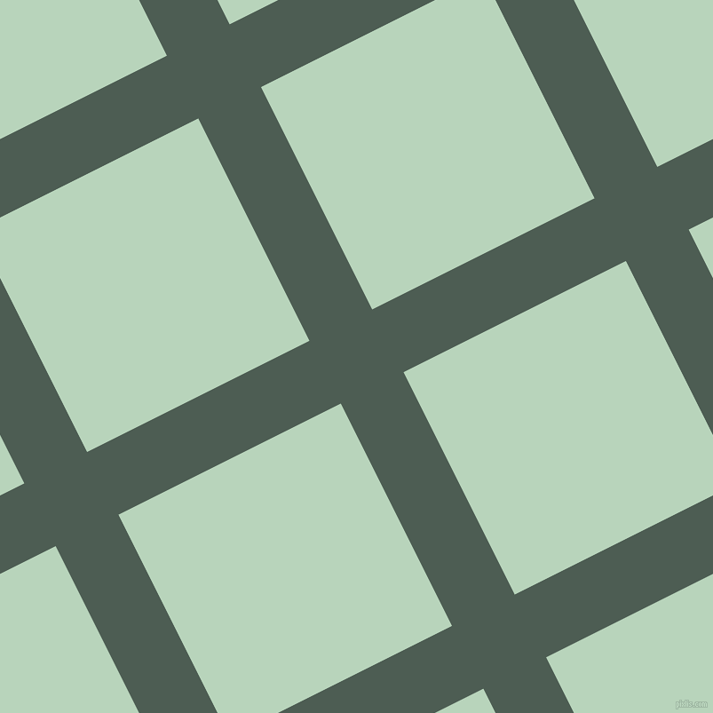 27/117 degree angle diagonal checkered chequered lines, 79 pixel lines width, 280 pixel square size, Feldgrau and Surf plaid checkered seamless tileable