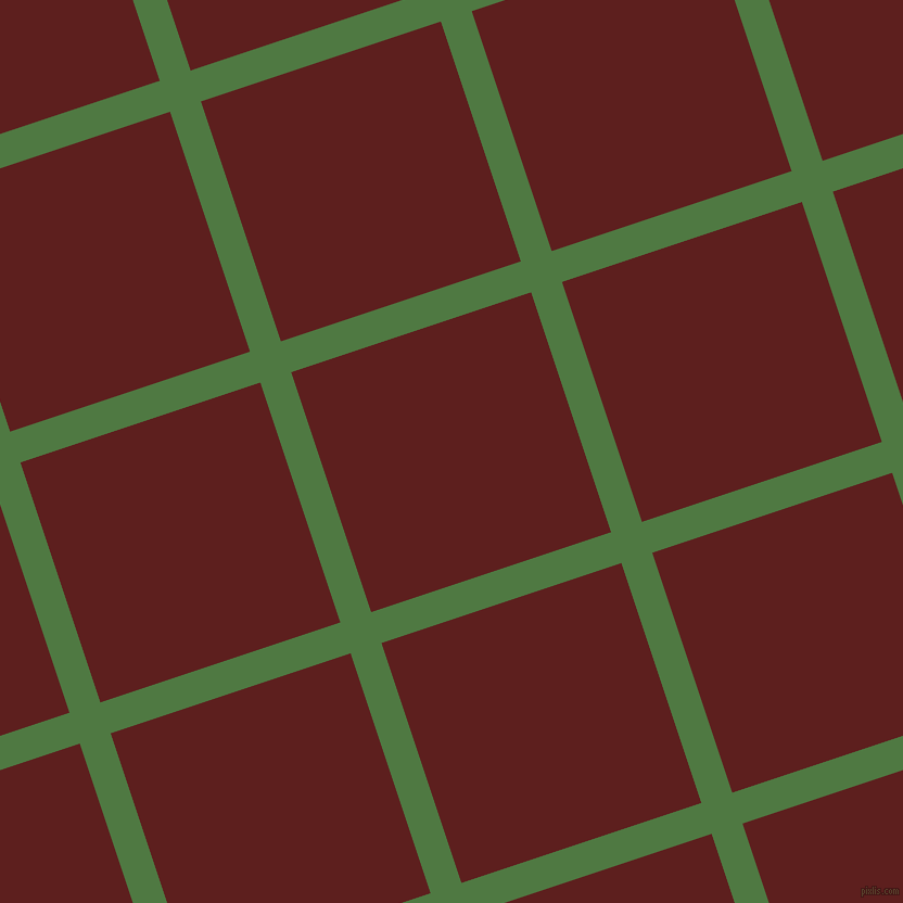 18/108 degree angle diagonal checkered chequered lines, 30 pixel lines width, 233 pixel square size, Fern Green and Red Oxide plaid checkered seamless tileable