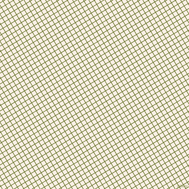 31/121 degree angle diagonal checkered chequered lines, 2 pixel line width, 14 pixel square size, Fiji Green and Linen plaid checkered seamless tileable