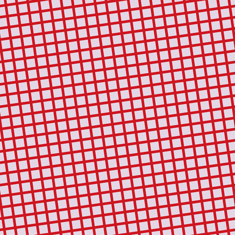 8/98 degree angle diagonal checkered chequered lines, 9 pixel line width, 29 pixel square size, Fire Engine Red and Snuff plaid checkered seamless tileable