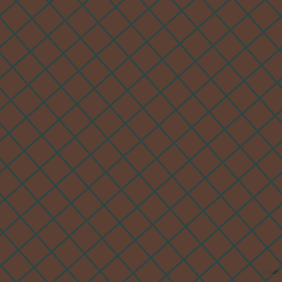42/132 degree angle diagonal checkered chequered lines, 4 pixel line width, 42 pixel square size, Firefly and Very Dark Brown plaid checkered seamless tileable