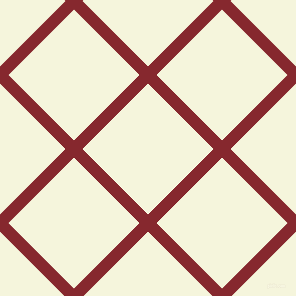45/135 degree angle diagonal checkered chequered lines, 24 pixel line width, 185 pixel square size, Flame Red and Beige plaid checkered seamless tileable