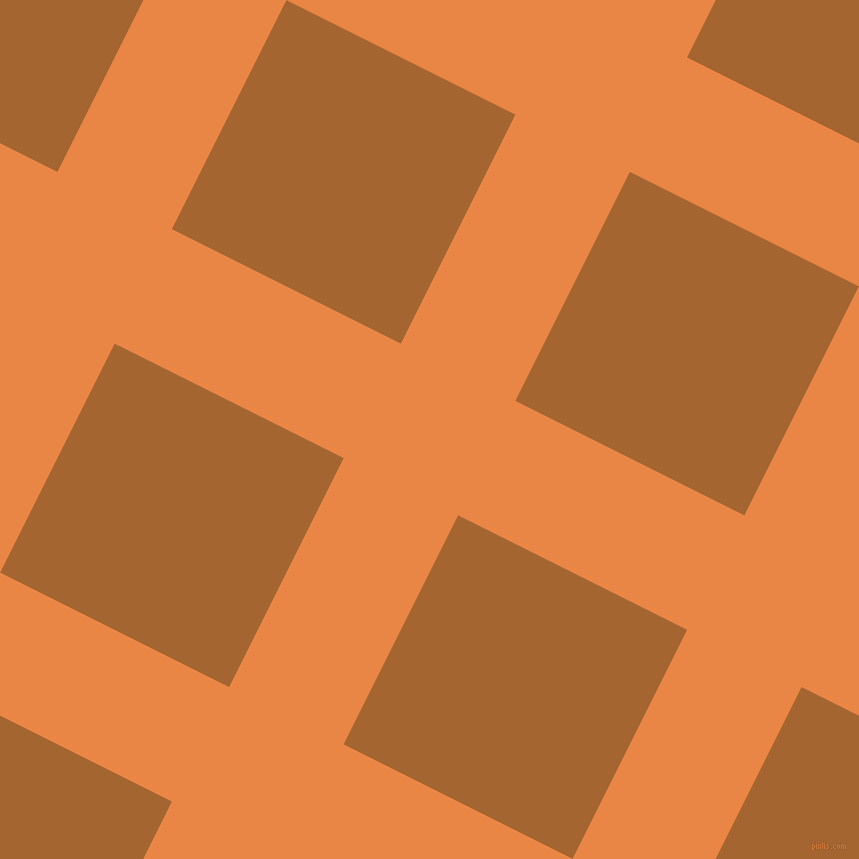 63/153 degree angle diagonal checkered chequered lines, 128 pixel line width, 256 pixel square size, Flamenco and Mai Tai plaid checkered seamless tileable