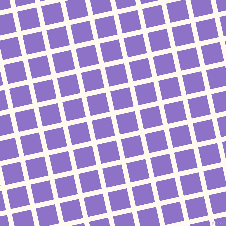 13/103 degree angle diagonal checkered chequered lines, 17 pixel line width, 67 pixel square size, Floral White and True V plaid checkered seamless tileable