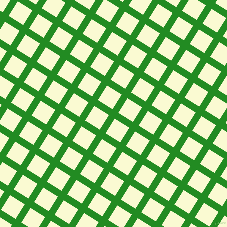 58/148 degree angle diagonal checkered chequered lines, 23 pixel lines width, 58 pixel square size, Forest Green and Light Goldenrod Yellow plaid checkered seamless tileable