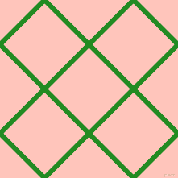 45/135 degree angle diagonal checkered chequered lines, 16 pixel lines width, 188 pixel square size, Forest Green and Your Pink plaid checkered seamless tileable