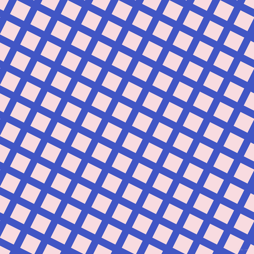 63/153 degree angle diagonal checkered chequered lines, 23 pixel lines width, 50 pixel square size, Free Speech Blue and Carousel Pink plaid checkered seamless tileable