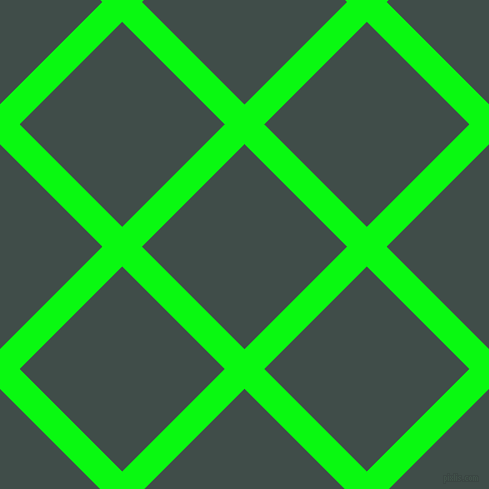 45/135 degree angle diagonal checkered chequered lines, 28 pixel line width, 145 pixel square size, Free Speech Green and Corduroy plaid checkered seamless tileable