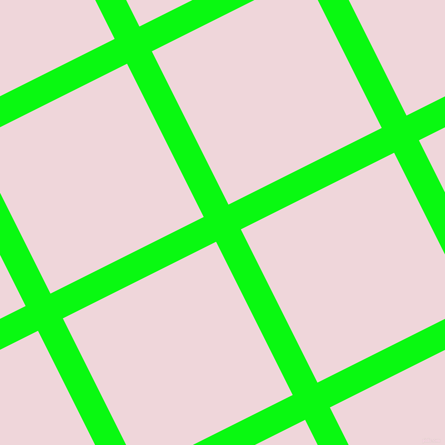 27/117 degree angle diagonal checkered chequered lines, 55 pixel line width, 340 pixel square size, Free Speech Green and Pale Rose plaid checkered seamless tileable